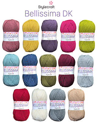 Stylecraft Bellissima DK Wool Double Knitting & Crochet Soft Yarn NEW PRODUCT  • 2.29£