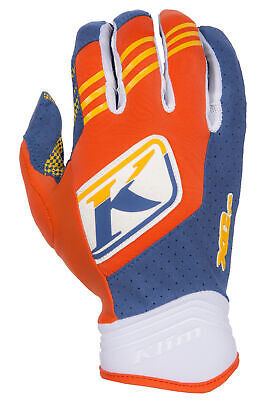 $ CDN51.82 • Buy Klim Mens Orange Flame/Blue XC Dirt Bike Gloves MX ATV Motocross Off-Road 2016