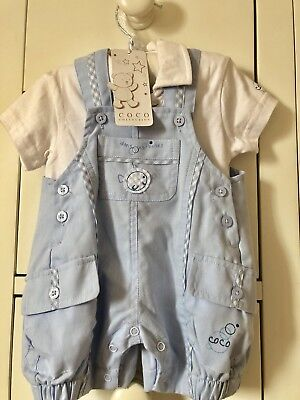 £34.99 • Buy BNWT Beautiful Baby Boys Pale Blue Coco Collection Outfit Age 3 Months