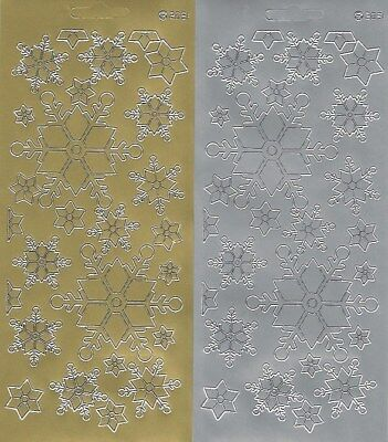 £1.25 • Buy Snowflake Stickers - Gold Or Silver Peel Off Christmas Stickers - Metallic 2031