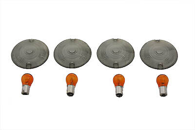 Turn Signal Flat Style Lens Kit Smoked,for Harley Davidson,by V-Twin • 30.74£