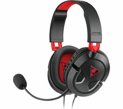 £19.99 • Buy TURTLE BEACH Ear Force Recon 50 Gaming Headset - Black & Red - Currys