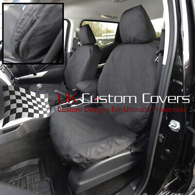 Fits Nissan Navara Np300 Double Cab Tailored Front Seat Covers 2016 On Black 242 • 54.95£