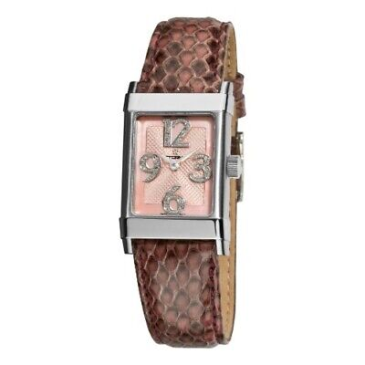 Eterna 1935 Women's 8790.41.84.1157 Pink Diamond Dial Leather Watch • 519.78£