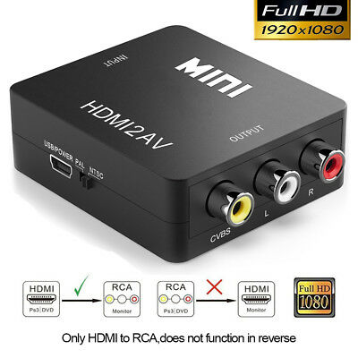 AU31.99 • Buy Converter Box For Chromecast/ Fire HDMI WiFi Stick To Composite AV 3RCA TV Cable