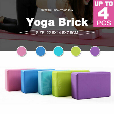 AU17.59 • Buy VIVA 2Pcs Yoga Block Brick Foaming Home Exercise Practice Fitness Gym Sport Tool