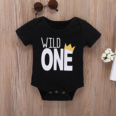 AU10.06 • Buy Toddler Baby Girls Boys Short Sleeve Romper Bodysuit Jumpsuit Clothes Outfits