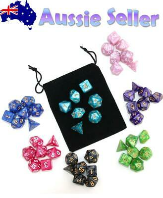 AU8.97 • Buy Dice 7 Pce D&D Pearl Dice Set Pathfinder RPG Polyhedral Dice Dungeons & Dragons