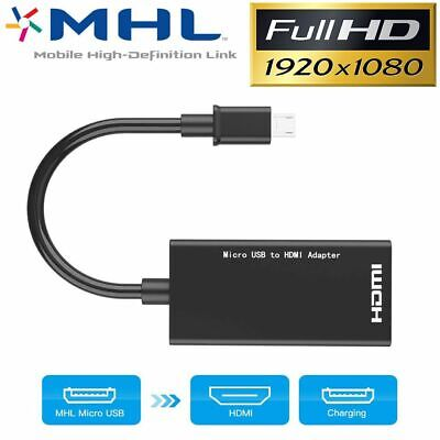 AU7.25 • Buy Micro USB MHL To HDMI Cable Adapter HDTV For Samsung Galaxy Tab S 10.5 8.4