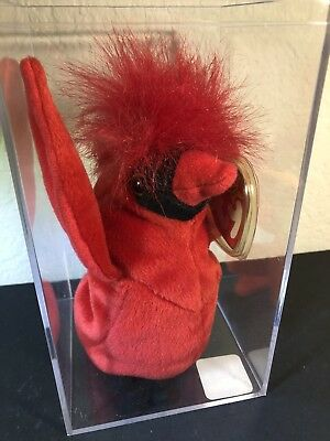 """$555.33 • Buy TY Beanie Baby """"Mac"""" The Cardinal – Rare With 4 Errors Retired COLLECTABLE NEW!"""