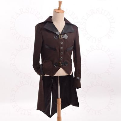 Victorian Swallow-tailed Coat Tailcoat Costume Tail Coat Jacket Mens Steampunk • 19.35£