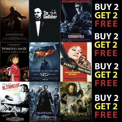 IMDB TOP 1to50 MOVIE POSTERS A4 A3 Photo Prints 300gsm Paper/Card/Metal Plaque • 2.99£