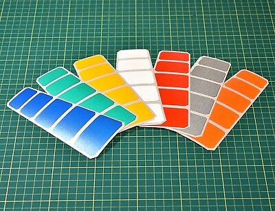Reflective Chevron Stickers For Crash Helmet Safety - Hi-vis - High Visibility • 2.89£