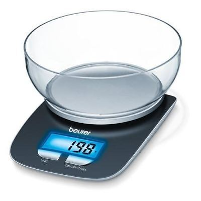 Beurer KS25 Electronic Digital Kitchen Scales With Bowl And Illuminated Display • 14.95£