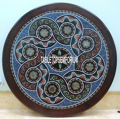 60  Italian Marble Dining Table Accent Mosaic Inlay Living Room Arts Decor H3794 • 10,197.62£