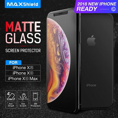 AU8.54 • Buy MAXSHIELD Matte Tempered Glass Screen Protector For Apple IPhone X Xs Max XR