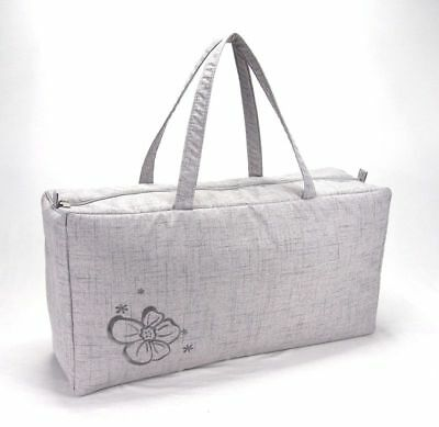 Knitting Bag Wool / Yarn / Craft Storage Bag Ex Large With Embroided Flower • 13.99£