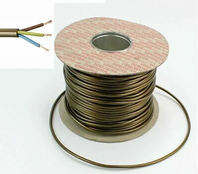 0.5MM 3 Core 2183Y Round Table Lamp Flex Cable Gold Brass 3AMP Lighting Cable  • 0.99£