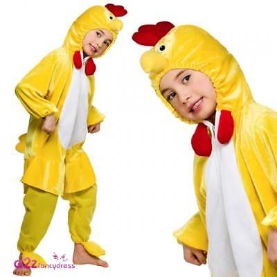 Adult Kids Chick Chicken Costume Easter Bird Animal Farmyard Fancy Dress Outfit • 13.95£