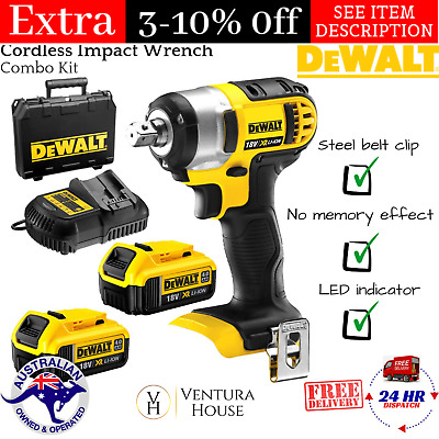 Dewalt 18v Cordless Impact Wrench Combo Kit W Battery Charger Carry Case New