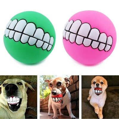 £0.99 • Buy Indestructible Solid Rubber Ball Pet Dog Toy Training Chew Play Fetch Bite Toy