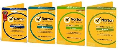 AU14.99 • Buy Norton Internet Security Standard DELUXE PREMIUM 1 3 5 Devices Mac Android 2020