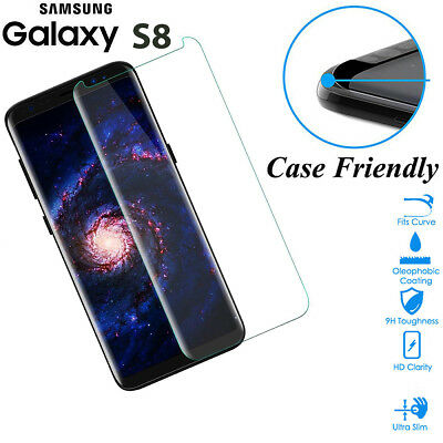 $ CDN6.84 • Buy Case Friendly Tempered Glass Screen Protector Cover For Samsung Galaxy S8 Clear