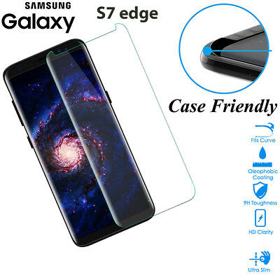 $ CDN6.84 • Buy Case Friendly Tempered Glass Screen Protector Cover Samsung Galaxy S7 Edge Clear
