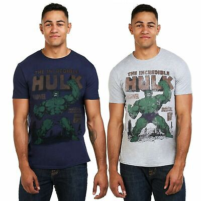 Marvel Mens - The Incredible Hulk Rage - T-Shirt - Navy / Grey • 12.99£