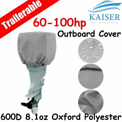 AU32.95 • Buy 60-100hp Half Outboard Boat Motor Engine Cover Dust Rain Protection Grey