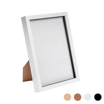 Box Picture Frame Deep 3D Photo Display 8x12 Inch Standing Hanging White • 11.99£