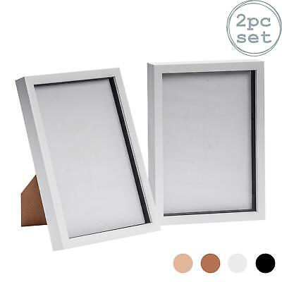 £12.99 • Buy Box Picture Frame Deep 3D Photo Display 8x12 Inch Standing Hanging White X2