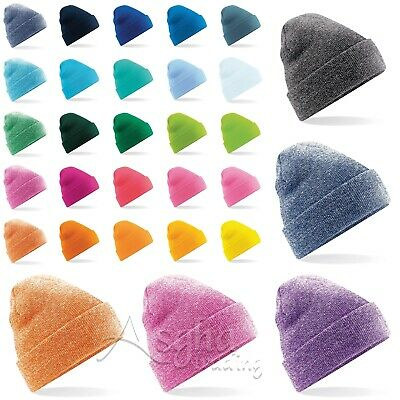 £3.99 • Buy Beechfield Original Cuffed Beanie Soft Touch Beanie Double Layer Pull On Hat