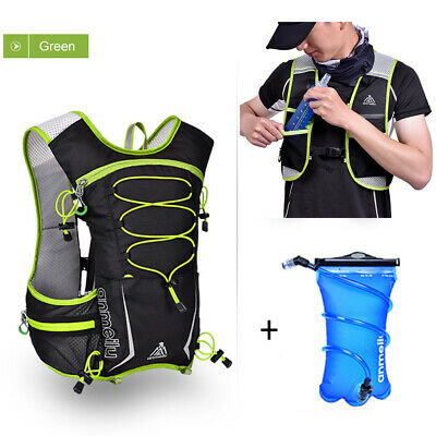 AU57.88 • Buy Running Hydration Pack Backpack Bag + 2L Water Bladder Hiking Camping Cycling