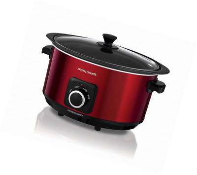 £29.99 • Buy Morphy Richards 461011 Sear & Stew Slow Cooker With Glass Lid 6.5L 3 Setting Red