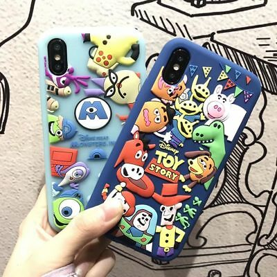 AU7.78 • Buy Cute Cartoon Disney Silicone Rugged Case Cover For IPhone 11 Pro XS Max XR 7 8+