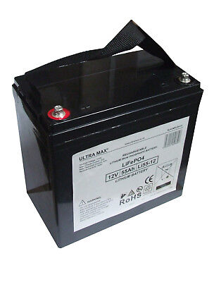 12V 55AH Leisure / Marine LITHIUM Battery For Boat-home / Boat / Yacht LM 60 • 263.10£