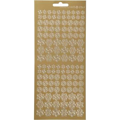 £1.99 • Buy Gold Self Adhesive Snowflakes Peel Off Stickers Sheet Card Embellishments Crafts