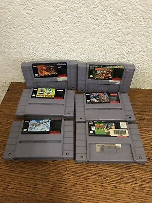 $ CDN87.96 • Buy Snes 6 Game Lot Donkey Kong Country, Street Fighter II, Lion King, Pilot Wings