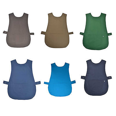 Tabard Apron Made Ladies Overall Uk Red Blue Pink Navy Turquoise With Pocket • 6.09£