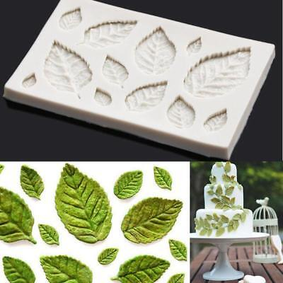 Rose Leaves Silicone Fondant Mould Cake Tree Flowers Leaf Decorating Baking Mold • 3.25£