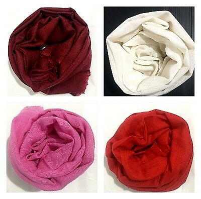 100% Pure Natural Handwoven Cashmere Scarf Shawl Wrap Nepal Soft Light,warm Gift • 16.99£