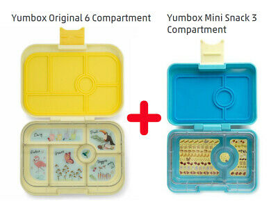 AU79.99 • Buy LUCH BOX DEAL ! Yumbox Original 6 Compartment+Yumbox Mini Snack 3 Compartment