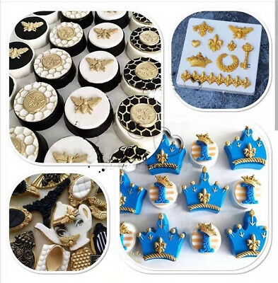 Vintage Relief Silicone Fondant Mold Cake Crown Key Chain Baking Border Mould UK • 3.99£