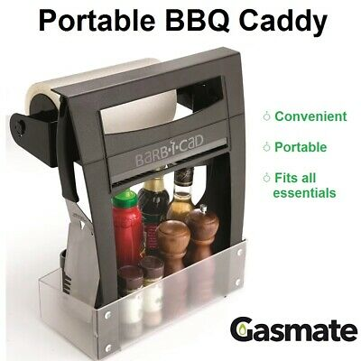 AU49.90 • Buy GASMATE Barbecue Caddy Utensil Spice Herb Rack Holder Camping Travel Picnic BBQ