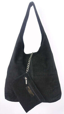 Women's Italian Genuine Real Suede Leather Ladies Shoulder Slouch Bag Tote Bag  • 25.99£