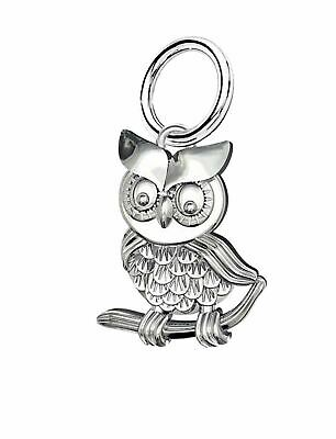 £5.95 • Buy Solid Silver 925 Owl Pendant Charm For Charms Bracelet Or Necklace  A20P