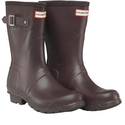 Hunter Womens Short Wellies Wellington Boots Bitter Chocolate Brown In Size 3 • 44.95£