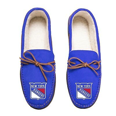 £24.77 • Buy New York Rangers Team Color NHL Men's Moccasins Slippers FREE SHIP