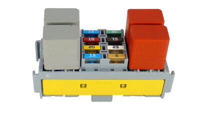 AU63 • Buy Module 4 Way Micro Relay Holder / 8 Mini Fuse Box -with Terminals - MTA Italy